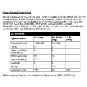 High5 EnergySource Drink Xtreme Dose Citrus mit extra Koffein Elektrolyten & Magnesium 1,4kg